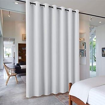 pony dance raumteiler vorhang grau wei b ro trennwand schiebegardinen wohnzimmer. Black Bedroom Furniture Sets. Home Design Ideas