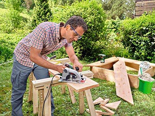 Bosch Sierra circular PKS 40, tope paralelo, hoja de sierra para madera, en caja de cartón (850 W, diametro nominal de la hoja de sierra: 130 mm)