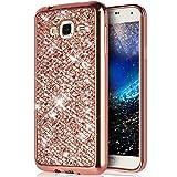 Ukayfe - Cover Premium per Samsung Galaxy, in silicone e TPU, brillante, con strass e diamanti, super sottile, telaio di placcatura, flessibile, ideale per Samsung Galaxy Grand Plus, Grand Neo, Grand Lite GT-I9060I, i9060, i9062, i9082 da 5 pollici