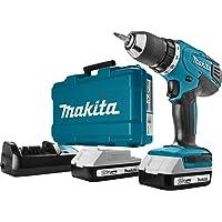 Makita HP457DWE - Trapano avvitatore a percussione, a batteria Li-ion, 1.5 Ah, 18V, Nero, Blu, 1/2_pollice