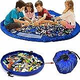Tapis de jouets, KING DO WAY Sacs de Rangement de Jouets Tapis de Jeu Organisateur Rapide Grande Capacité Portable pour Bébé Enfants (150CM)