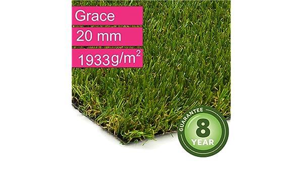 1993 g//m/² DIN 53387 Kunstrasen Rasenteppich Grace f/ür Garten Gewicht ca Florh/öhe 20 mm UV-Garantie 8 Jahre - 2,00 m x 2,00 m Rollrasen Kunststoffrasen