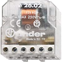 Finder  260380120000 - contactor para la caja de 12 VAC 1 NO / 1 NC 10 A