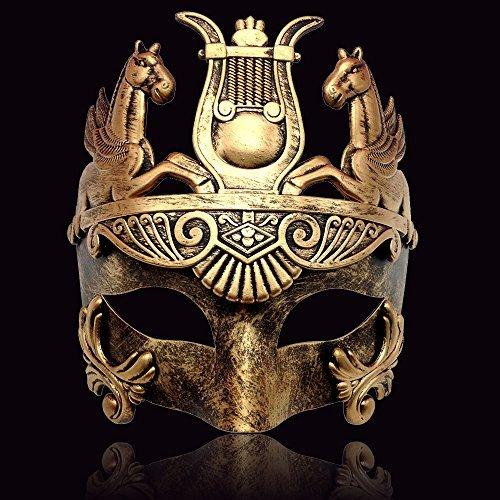 Männer Maskerade Masken - CCUFO Gold männliche griechische & römische
