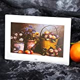 XuMarket(TM) 10inch HD TFT-LCD 1024*600 Digital Photo Picture Frame Alarm Clock MP3 MP4 Movie Player with Remote Control White/Black