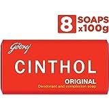 Cinthol Original Bath Soap – 99.9% Germ Protection, 100g (Pack of 8)