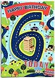 Kinder-Geburtstagskarte für sechs (6) Jahre alten Jungen