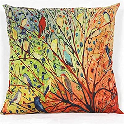 !!! On Sale Promotions !!! Tree Birds Cotton Sofa Pillowcase,Baonoopy Cushion Cover - inexpensive UK light shop.