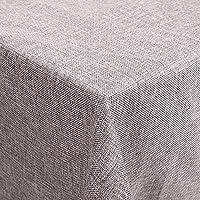 Desconocido Femor Manteles Efecto Loto Impermeable Resistente a Las Manchas Cuidado Fácil Lavable Mantel de Lino 150 x 300 cm (Gris)