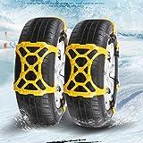 Bescita Neue 1Pc Universal Winter Schneeket Einfache Installation Schnee Kette Reifen Anti-skid Gürtel Für Auto SUV LKW mit 165 mm-265 mm Reifen Breite (Gelb)