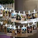 Foto Clip Lichterkette, Keeda [batteriebetrieben] 20LED Bild Licht Lichterkette, outdoor, Garten Beleuchtung für hängende Bilder, Notizen, Kunstwerke weiß