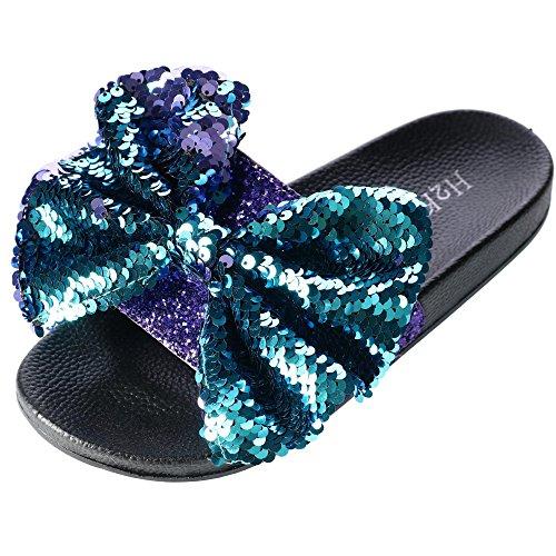 f8601a3ed2ec H2K - Zapatillas de Estar por casa de Material Sintético para Mujer Talla  única