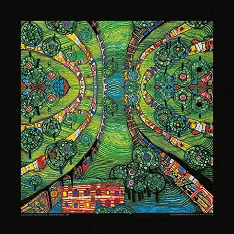 Friedensreich Hundertwasser - Posters: Friedensreich Hundertwasser Poster Reproduction - Grüne