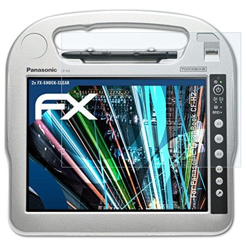 atFolix Schutzfolie kompatibel mit Panasonic ToughBook CF-H2 Panzerfolie, ultraklare & stoßdämpfende FX Folie (2X)
