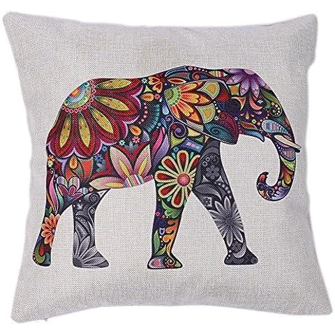 Vintage Elephant stampa lino federa Divano auto Vita Cuscino Federa Home Decor