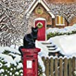 Christmas Garden Black Cat Luxury Christmas Cards Pack