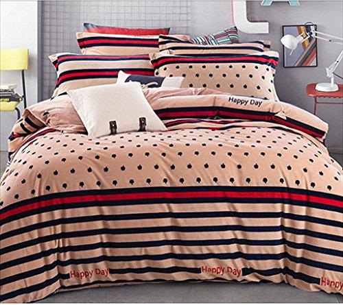 Grafiken 3D, Stereo, vier Sets, Bettwäsche, Bettbezug Decke, Landschaft 3D, vier-teiliges Kostüm,, 1,8 m (Kostüm Bleu Gris)