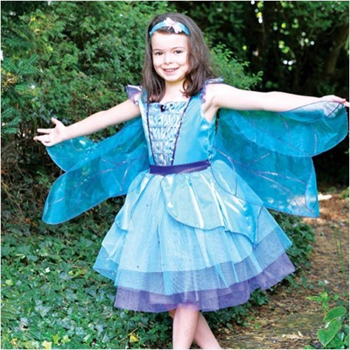 Dragonfly Fairy Deluxe Dress - Kids Costume 3 - 5 years by Travis (Dragonfly Kostüm Kind)