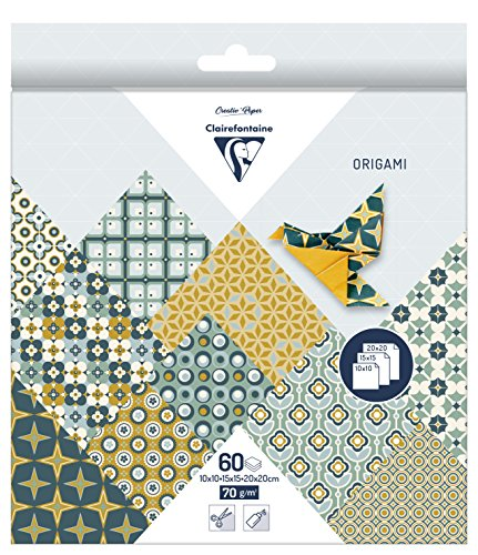 60 Blatt Origami Papier Pop, 3 Größen / Bastelpapier 10, 15 und 20 cm