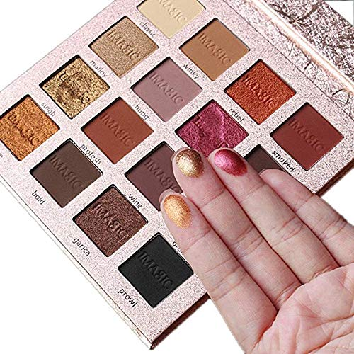 Hannea Matte Shimmer Eyeshadow Makeup Palette (Gold, Set of 16 Colours, t1)