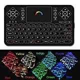 [Updated] 2.4GHz Colorful Backlit Mini Wireless Remote Keyboard and Mouse with Touchpad Q9 by Dupad Story, USB Rechargeable for Google Android tv box,HTPC,IPTV,PC,Raspberry pi