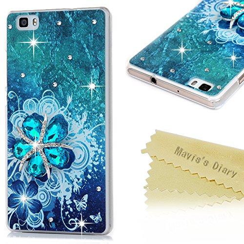 maviss-diary-huawei-p8-lite-hullen-pc-plastik-3d-muster-blau-diamant-blumen-protective-dekoration-ha