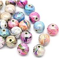300 Mix colorato sfera acrilico Housweety perline perle 8 mm