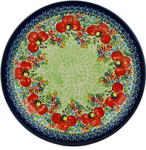 Polish Pottery Dinner Plate 11-inch Garden Meadow UNIKAT