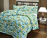 #10: Renown Products Pretty Attractive Blue Floral Design Print Reversible Double Bed AC Blanket / Dohar / Quilt ( Pack Of 1 )