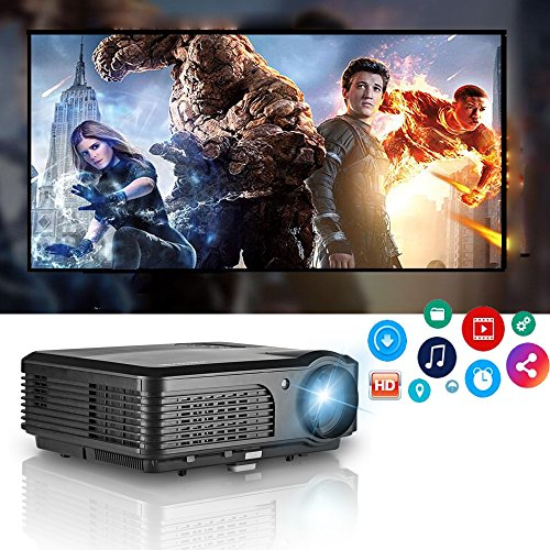 Haute résolution LED projecteur 1080p Full HD 4200 Lumens WXGA, projecteurs Home...