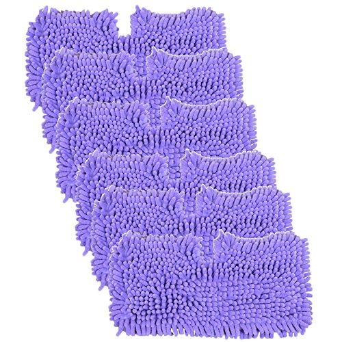 hlagseite Pads für Shark S2901S3455S3501S3502S3601s3701S3901Dampfreiniger Mop (6Stück, lila) ()