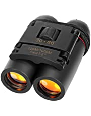 Inditradition 30x60 High Powered Binoculars | for Both Adults & Kids, Waterproof (Black)