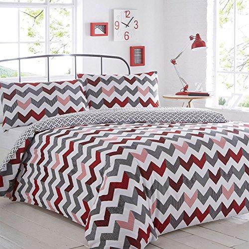 pieridae-chevron-rojo-juego-de-funda-de-edredon-y-funda-de-almohada-cama-funda-sofa-dormitorio-cama-