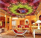 Chlwx 350cmX240cm (137.8inX94.392in) 3D Fototapete Decke Zimmer Wandbild Europa Style Herrlichen Himmel Zenith Deckengemälde Hd Photo 3D Wallpaper