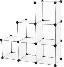 SONGMICS Regalsystem 6/9/16 Cubes Aufbewahrung Badregale Schuhregal Sideboard Kommode Kleiderschrank Aufbewahrungsbox Weiß