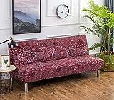 Cornasee Housse de Clic Clac élastique Canapé 3 Places,Salon Couverture de Couleur Solide