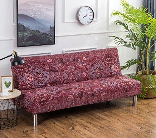 Cornasee copridivano clic clac 3 posti,fodera per cuscino elastica de di stampa floreale per divano letto pieghevole senza braccioli (n)
