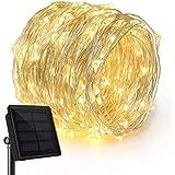 100 المصابيح سلسلة الطاقة الشمسية الأضواء ، ماء حبل ضوء الزخرفية لشجرة عيد الميلاد في الهواء الطلق ، حديقة ، الباحة ، حزب ، ا
