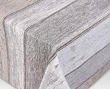 Jacquard Tischdecke Acryl Teflon beschichtet abwischbar, Vintage Holz sand, RUND OVAL ECKIG, Größe wählbar (rund 120 cm)