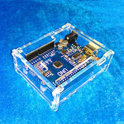 Preisvergleich Produktbild Generic DIY Durchsichtige Acrylkasten Hartschalenetui Für Arduino UNO R3