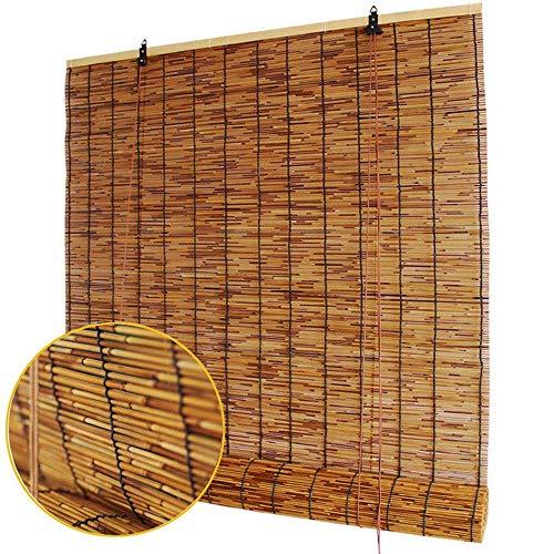 Cortina de bambú Tejida a Mano. Cortina de caña Natural Persianas Romanas Sombra A Prueba de Humedad Hermoso, El Sistema de Cuerda, Adecuado para Exteriores en Interiores. Decoración