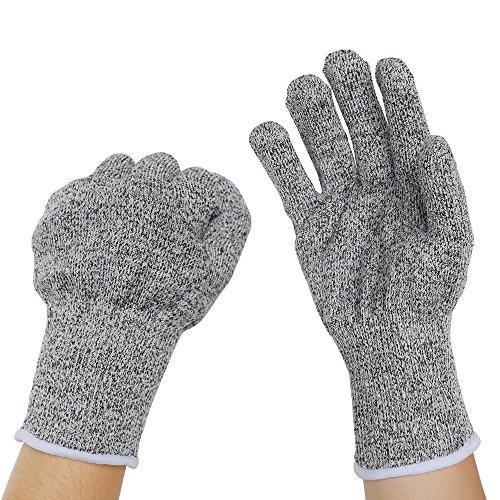 Schnitt Schutz Arbeit Sicherheit Handschuhe–mingtong Kevlar Handschuhe schnittfest Küche Handschuhe, Lebensmittelqualität Level 5Schutz, Hand Sicherheit für Schneiden, Kochen, Leisten Yard Arbeit, leicht atmungsaktiv robust und extra bequem (Sicherheit-handschuh)