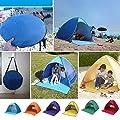 Strandzelt/Campingzelt für 2–3 Personen; tragbar, automatisch, aufklappbar; Schutz vor Sonne, vor UV-Strahlung; für Garten, Camping, Angeln, Picknick; mit Tragetasche und 6 Heringen.