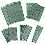 PCB Board, Ishua 16pcs PCB Prototype Double Face Universel Carte de Circuit Imprimé Planche à Essais