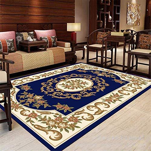 Living Rugs Teppiche Durable Classic Traditional Floral Teppiche Schlafzimmer Günstige Fußmatten Wohnzimmer Teppiche rutschfeste Teppiche Esszimmer Mode (Color : A, Size : 160x230cmft)