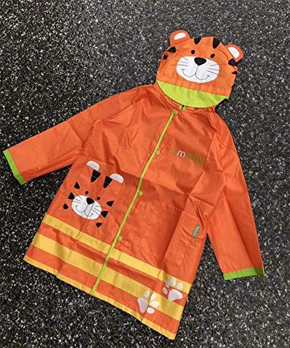 WFXZT Süßer Baby Poncho, Wasserdichter Kinderanzug mit Tasche, Cartoon Regenmantel,D,M