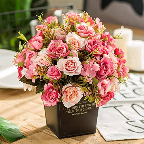 Self-My Künstliche Blumen Das Wohnzimmer Balkon Schaukel In Ihrem Haus Mit Blumen See Blau Rosa Shin Heung Besser Gefälschte Blumen (See-brautstrauß)