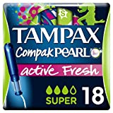 Tampax Compak Pearl Active Fresh Tampons with Applicator x 18 � Pack of 2