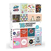 16 x Birthday Cards by Joy MastersTM Vol.1 | Multipack for Men & Woman