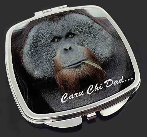 Welsh Orangutan 'Caru Chi Dad' Make-up Taschenspiegel Weihnachtsgeschenk